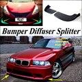 Car Splitter Diffuser Bumper Canard Lip For BMW 3 M3 E30 E36 E46 Tuning Body Kit / Front Deflector Car Fin Chin Reduce Body