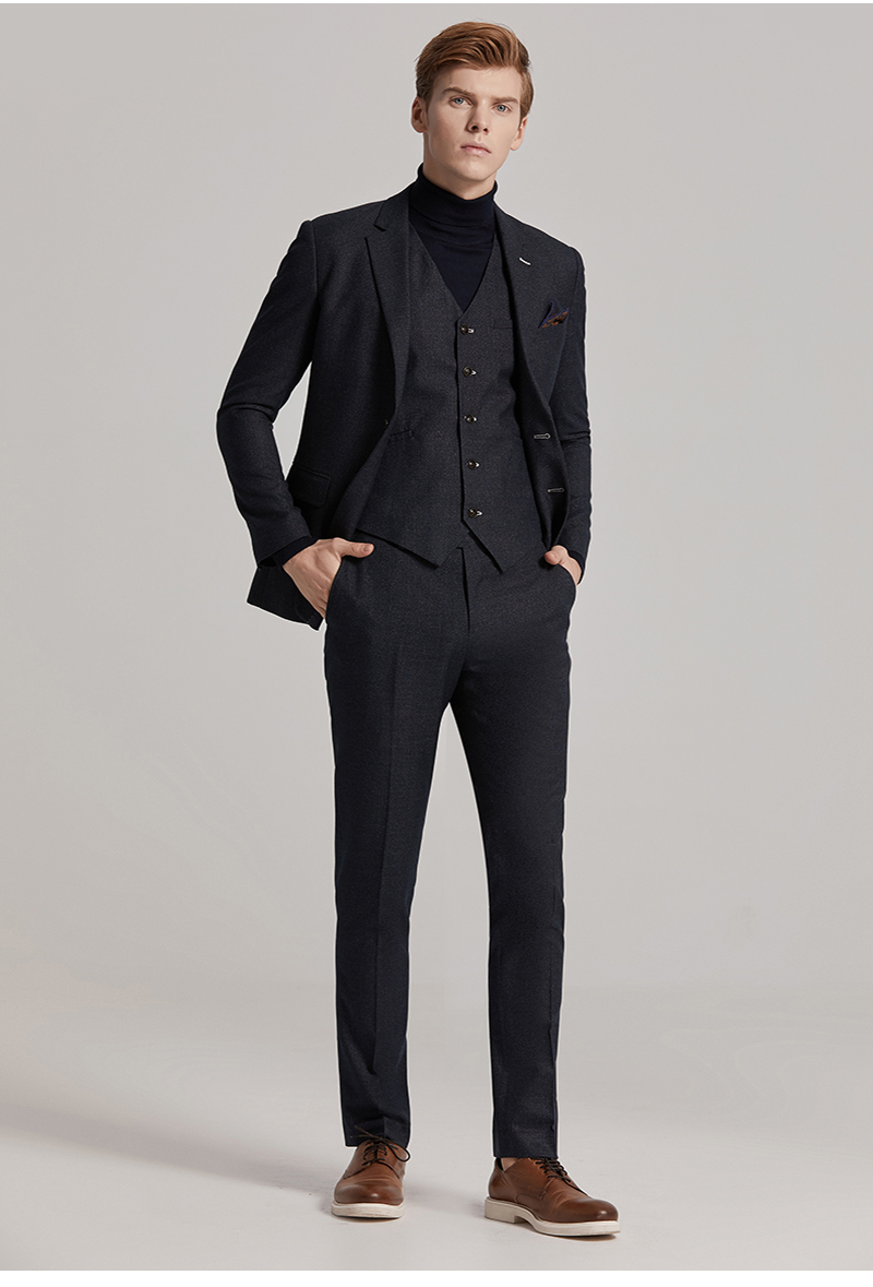 Fashion Business Suits Slim Fit Bespoke Suits Bridegroom Weeding Suits Party Dress Suits  For Men Blazer Men British Style