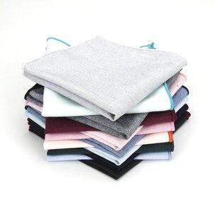 Мужской Хлопковый Карманный платок, однотонный, черный, розовый, синий платок, полотенце для сундуков, костюм для свадебной вечеринки, 25*25 см...