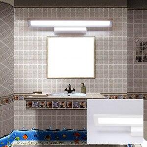 Image 5 - Luz LED de pared de 11W para espejo de baño, lámpara de pared de acrílico moderna resistente al agua, AC85 265V de iluminación para Baño