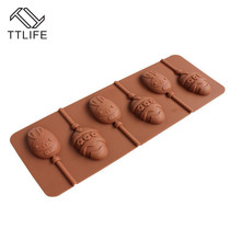 TTLIFE 6 Holes Easter Eggs 3D Silicone Molds Sugar Pastry Mould Chocolate Bakery Cupcake Dessert Fondant Cake Accessories