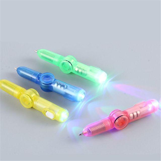 LED Spinning Pen Ball Pen Fidget Spinner Hand Top Glow In Dark Light EDC Stress Relief Toys Kids Toy Gift School Supplies 1