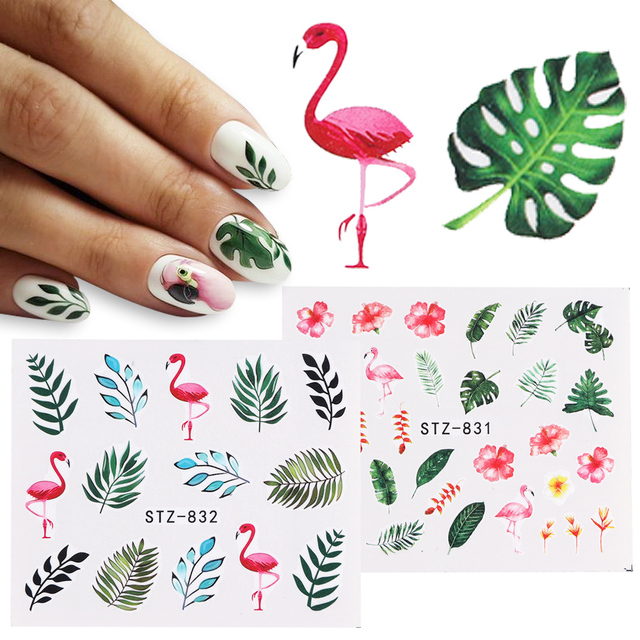 1pcs Nail Sticker Butterfly Flower Water Transfer Decal   online brands