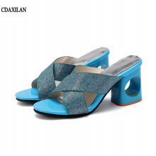 Cdaxilan Новое поступление Дамские тапочки модные ботинки из