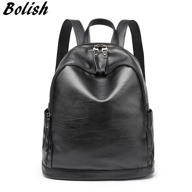 Bolish Lady Preppy Style Shoulder Bag Famale Simple Backpack Women Fashion Mochila Casual Girls Daily Rucksack for Teenagers fashion denim backpack preppy style casual shoulders double shoulder bag schoolbag style blue x 59966