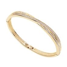 AAAA+ Rhinestones Circle Cuff X Bracelet Bangle Fashion jewe