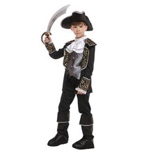 Boy Boys Swashbuckler Costumes Royal Pirate Captain Costume for Kids Children Halloween Purim Party Carnival Cosplay