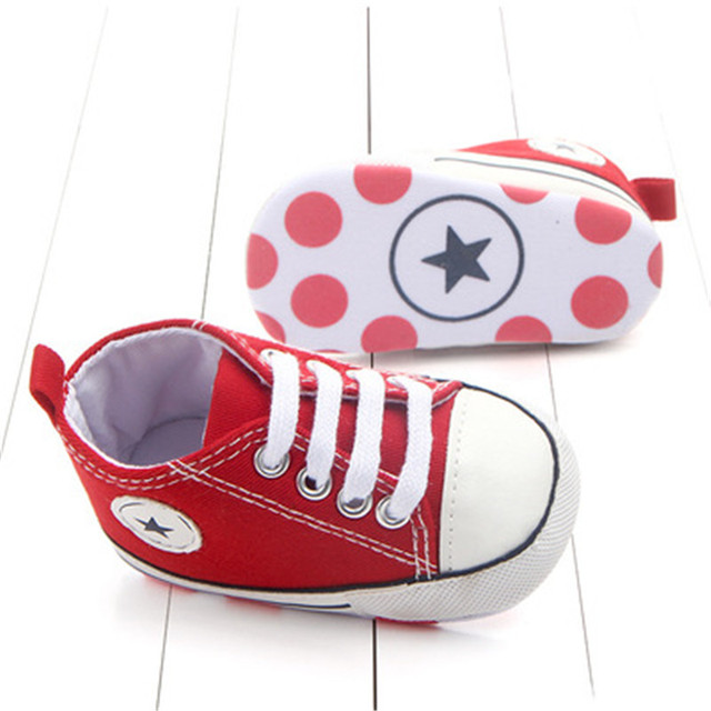 Canvas Classic Sports Sneakers for a Newborn Baby Boys/Girls – Soft Sole Anti-slip Baby Shoes