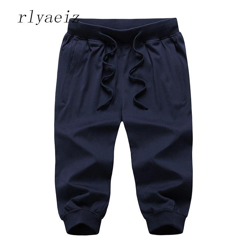 Rlyaeiz Oversized XL-9XL Shorts 2018 Summer Thin Shorts Men Hot Sales Mens Casual Loose Shorts Knee-length Shorts BYS0345