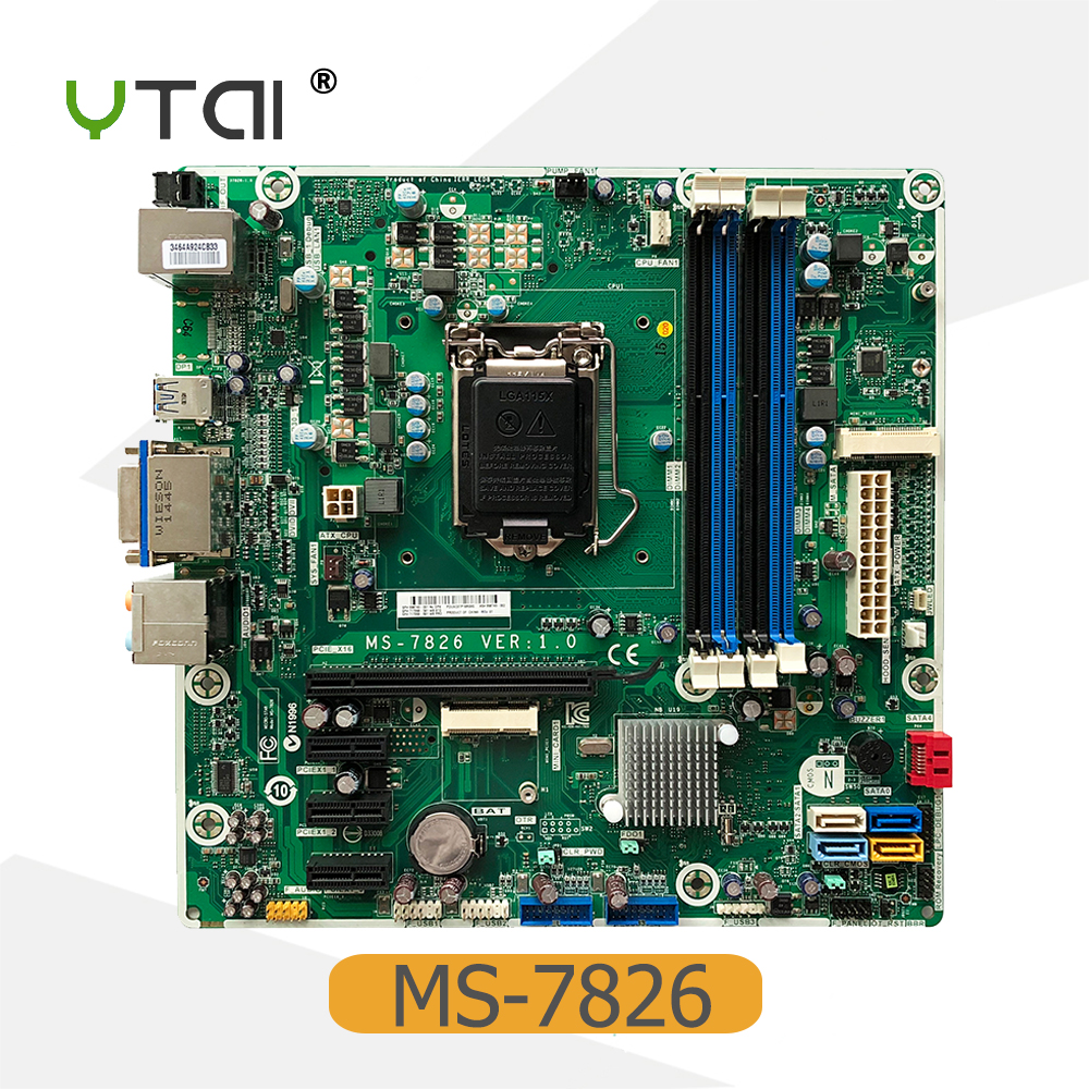 YTAI for Hp MS-7826 Desktop Motherboard 698749-002 717068-501 LGA115X DDR3 mainboard fully tested ms g41mdl ddr3 g41l motherboard