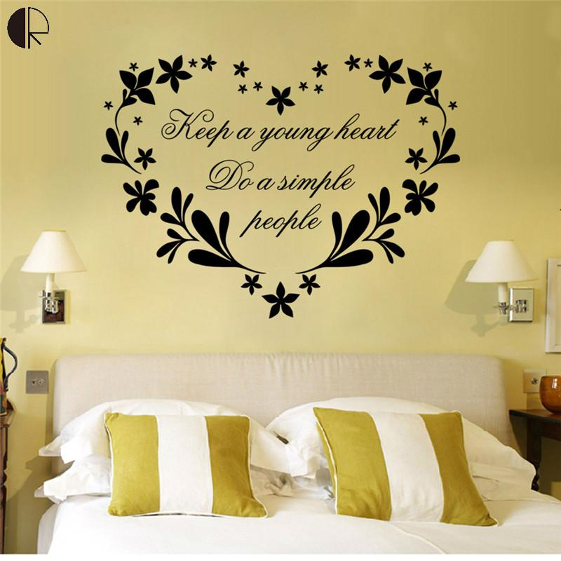 Simple design Keep a young heart Wall stickers Removable Decal Art ...