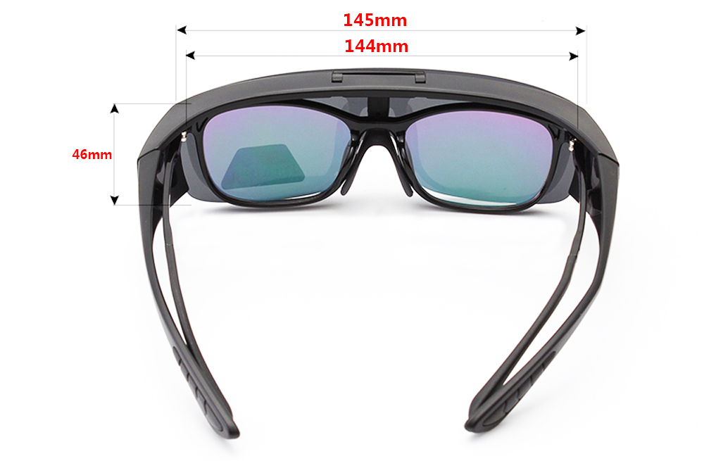Image 5 - Agstum Mens Womens Wraparound Goggles Polarized Fishing Driving Glasses Flip Up Fit Over Sunglasses-in Men's Sunglasses from Apparel Accessories on AliExpress
