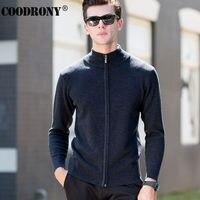 High Quality Zipper Turtleneck Knitwear Men Winter Thick Warm Cashmere Cardigan Men Brand Clothing Merino Wool