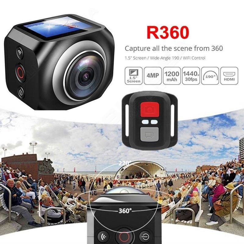 360 Camera Mini Sports Action Camera Outdoor HD Video Camcorder WIFI Wireless DV Logger 1 5inch