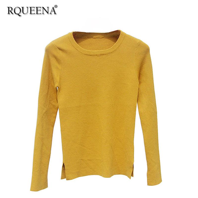 Aliexpress.com : Buy Rqueena Casual Style Women Yellow Pullover ...