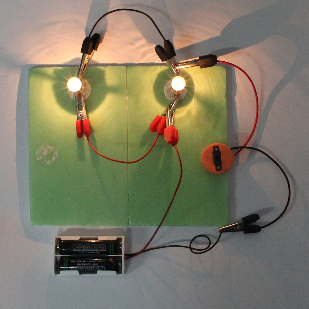 Wholesale Physical Science Experiments Series Parallel Circuits DIY Material For Your Child Kids And School Students