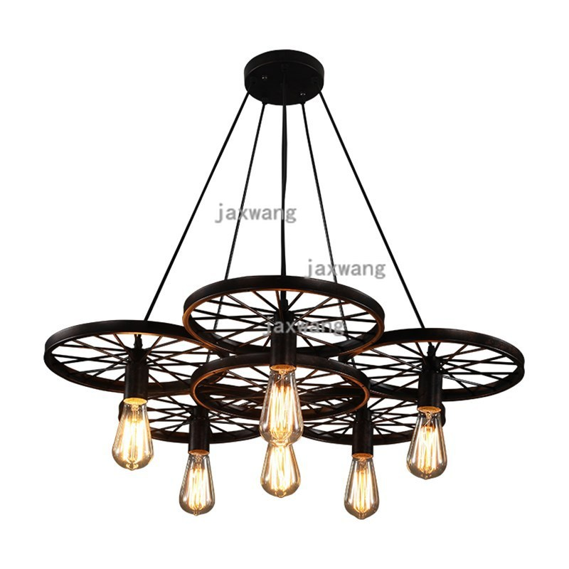 Us 22 4 20 Off American Led Chandelier Lighting Reading Living Room Iron Re Country Chandeliers Loft Lanterna Tatica Kitchen Hanging Lamps In