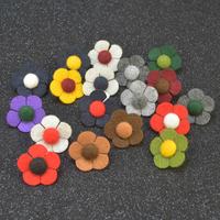 18pcs Pack Mixed Colors New Korean Men Suit Brooch Pins Handmade Fabric Flower High Quality Romantic