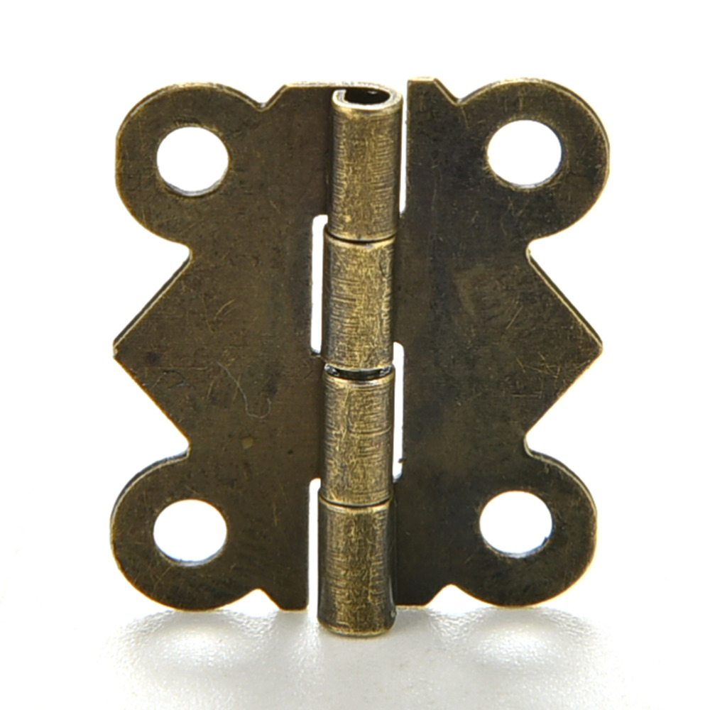 10PCS 20x17mm DIY Vintage Antique Brass Butterfly Hinge for Jewelry