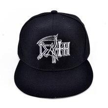 9839dd1375251 La muerte de miedo a la muerte de metal rock gorra bordado gorra de béisbol(