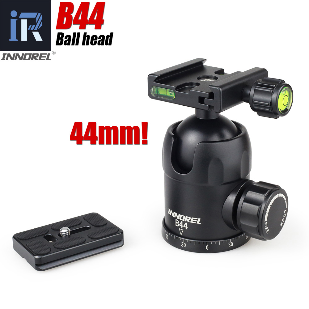 B 44 B44 ball head for tripod monopod lengthened Quick Release Plate 44mm large sphere Panoramic