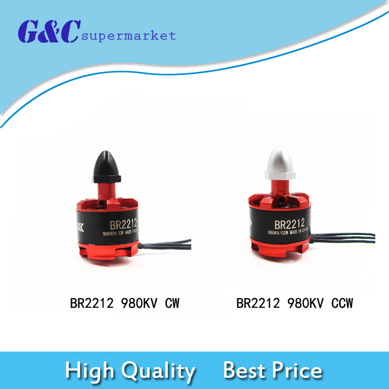 4pcs=2pairs Racing Edition 2212 <font><b>BR2212</b></font> 980KV 2-4S Brushless Motor CW/CCW For 350 380 400 Frame Kit for FPV Racing Part image