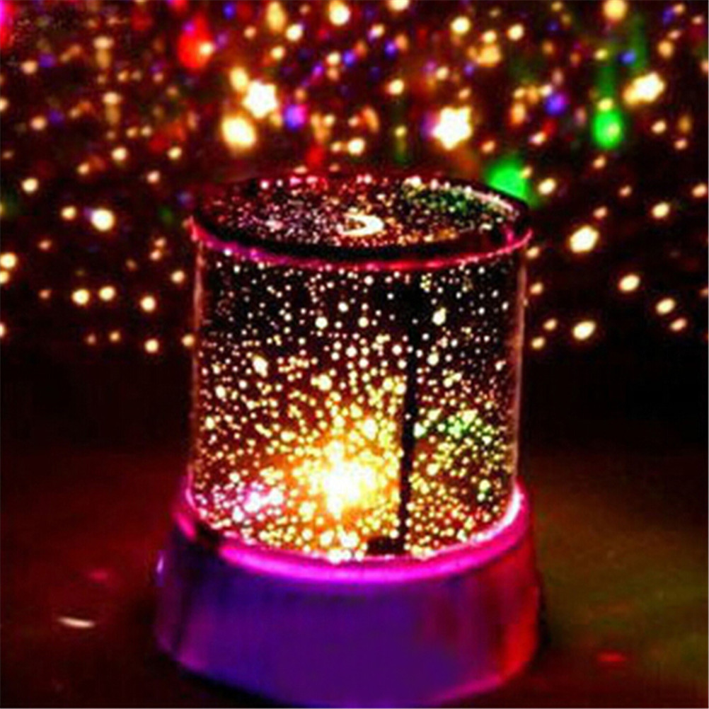 1 pc צבעוני Led USB מנורת הקרנת מקרן כוכבים שמיים כוכב ירח מאסטר ילדי ילדים תינוק שינה מנורה רומנטית