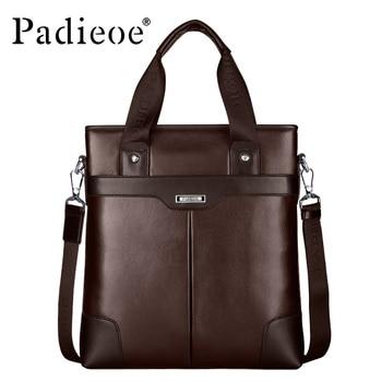 High quality 100% genuine leather men's handbag 2016 new famous brands men's shoulder messenger bags three colors available