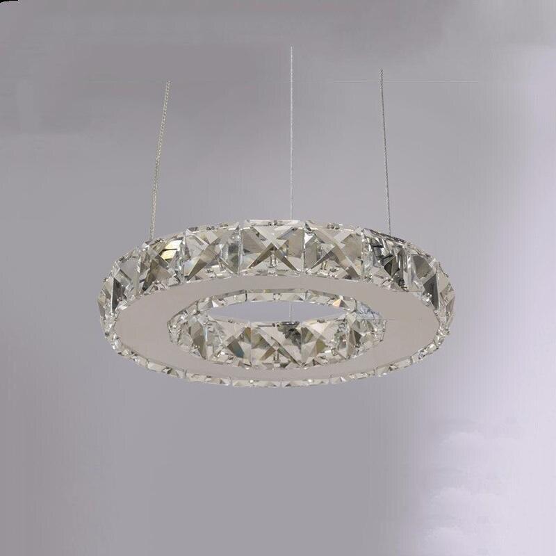 Modern Crystal LED Crystal Chandelier Crystal Lamp / Lighting Fixture LED Circle Light Diameter 200mm Pendant