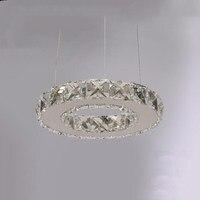 Cristal moderno led lustre de cristal lâmpada de cristal/luminária led círculo luz diâmetro 200mm pingente|Lustres| |  -