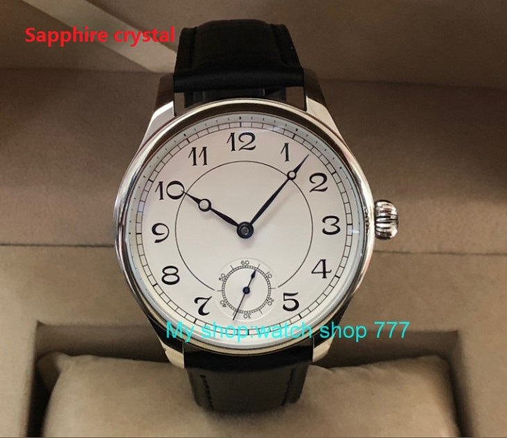 Sapphire crystal 44mm parnis Asian 6498 17 jewels Mechanical Hand Wind movement men s watch Mechanical