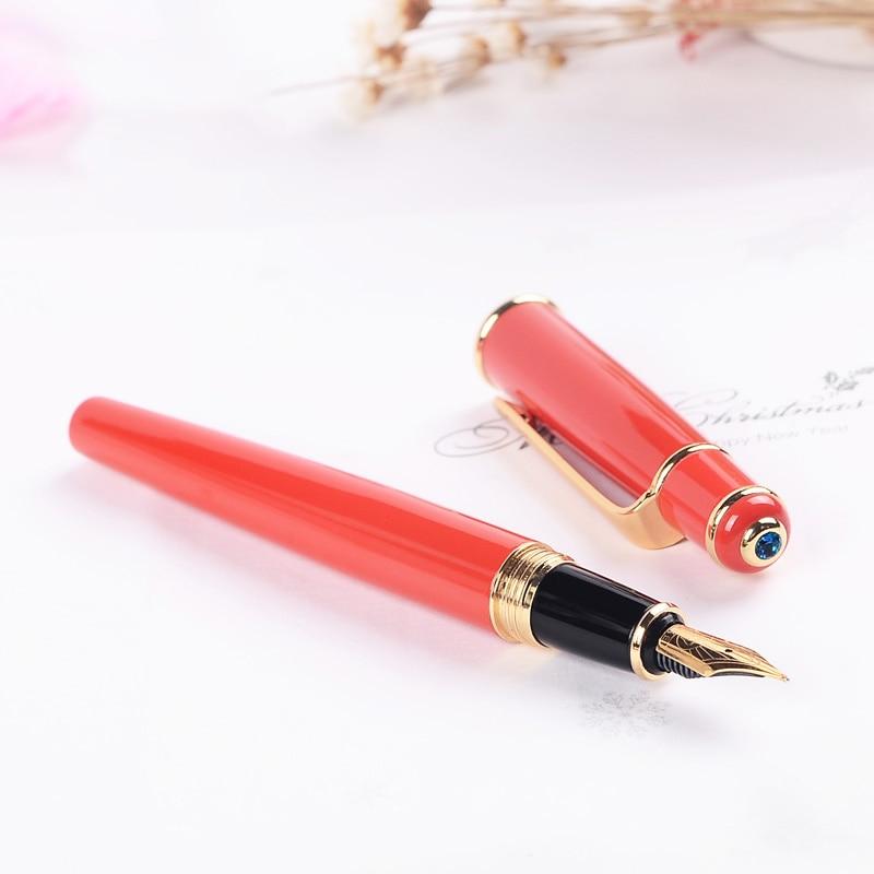 Haut de gamme Duke 0.5mm plume Fine stylo plume encre sertie de EF 0.38mm plume et boîte originale bleu gemme métal cadeau stylos pour femmes - 3