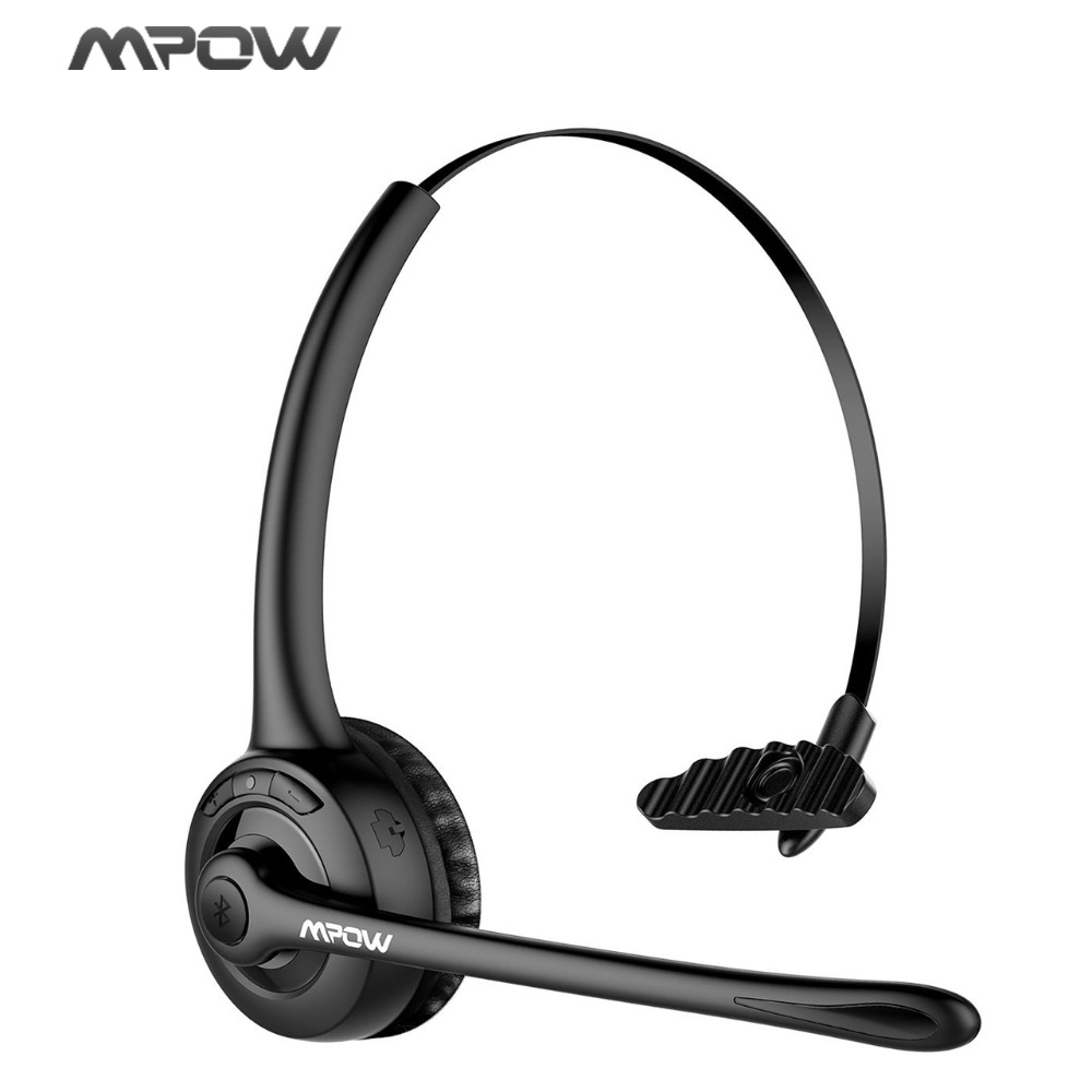 Mpow Pro Headphone Updated MBH15 Over Head Wireless Bluetooth Headset With Mic For Trucker Driver Call Center Office Cell Phone ...