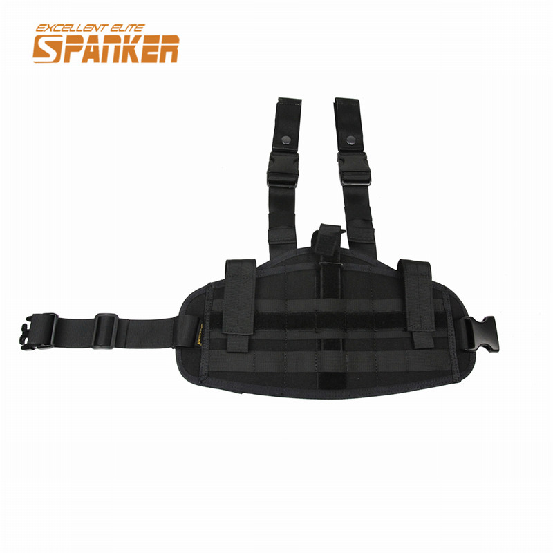 SPANKER Tactical Molle Leg Drop Pouch Tactical Rifle Pistola Pierna de La Gota P