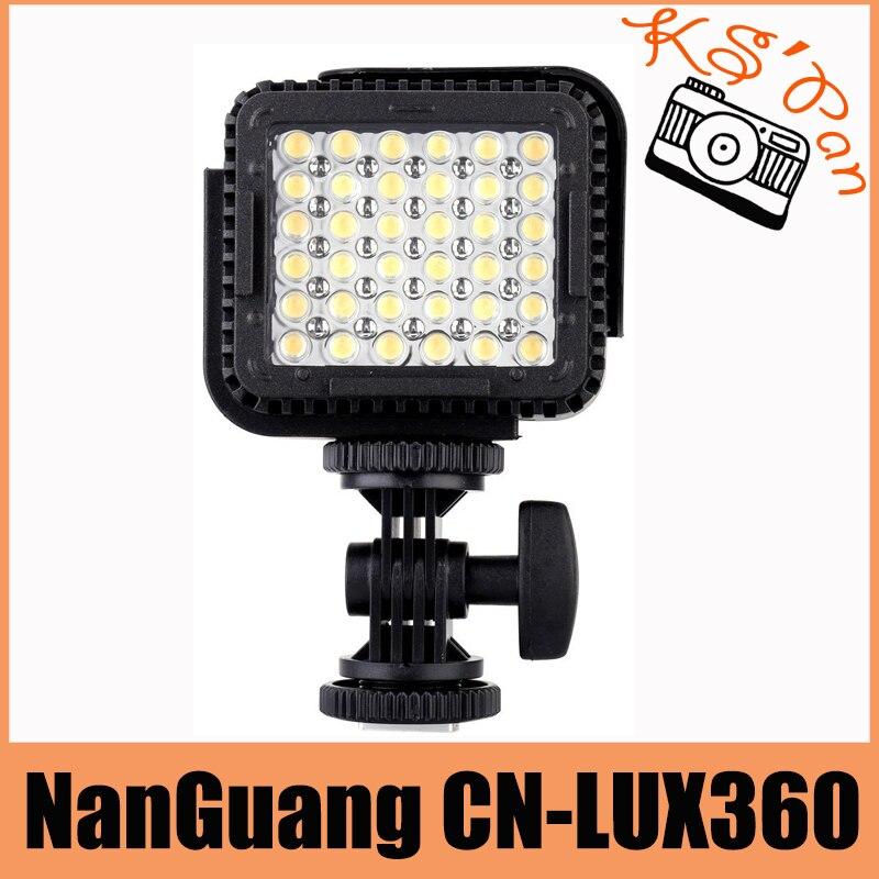 NanGuang CN-LUX360 36 LEDs LED Video Light Camera Photo Lamp for Canon Nikon Camera Video Camcorder 5600K/ 3200K Free Shipping