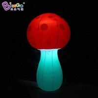 Индивидуальные 2 м высота гриб надувной дорожный декоративные надувные гриб украшения с светодиодный игрушки