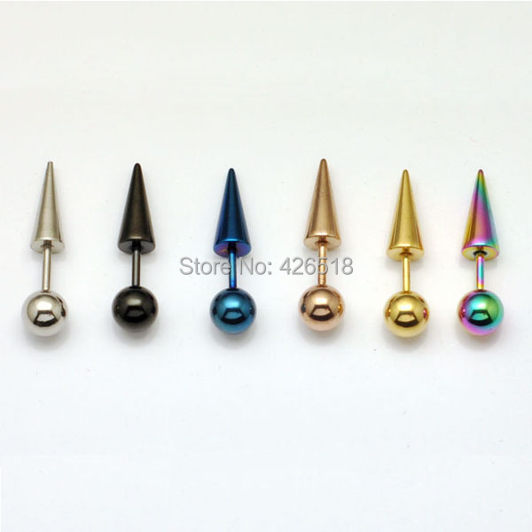 6mm Diameter Round Ball Spike Cone Tip Titanium Steel Men