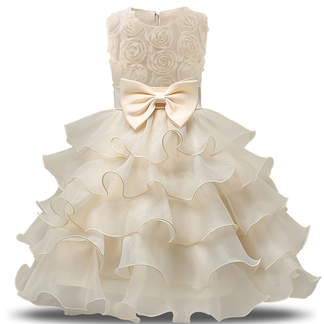 Flower Girl Dress For Wedding Baby Girl 3-8 Years Birthday Outfits Children's Girls First Communion Dresses Girl Kids Party Wear
