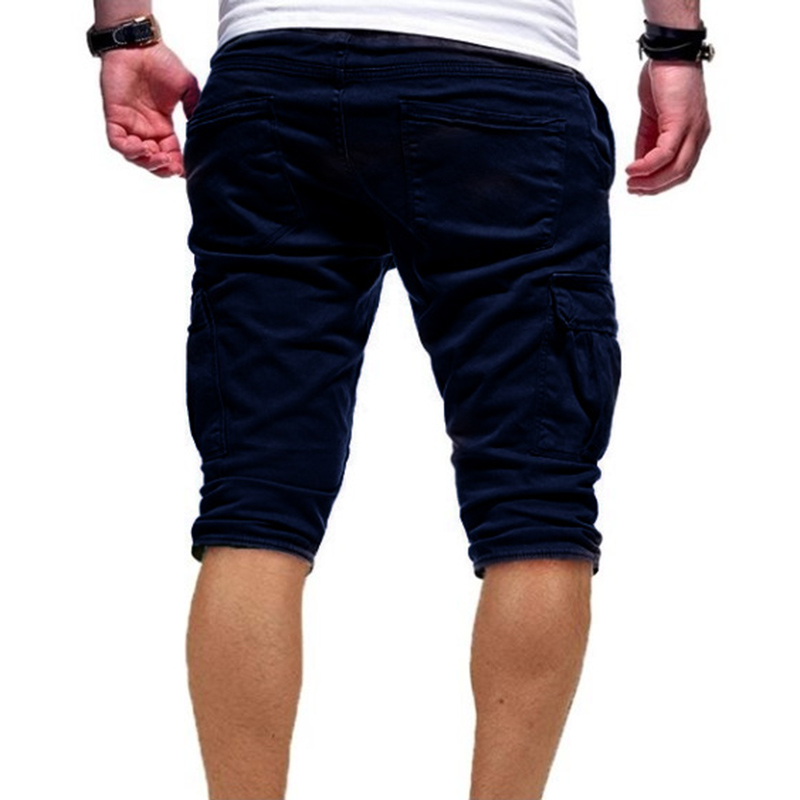 Men Half Pants Multi-pockets Loose Breathable Male Casual Pants for Summer FDC99