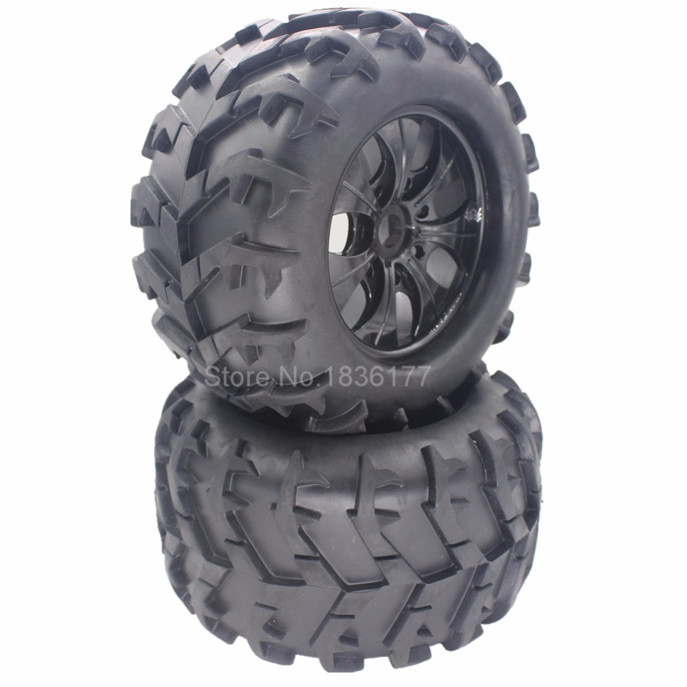4 Pieces 3.2 150mm Tires & Plastic Wheel Rims RC 1/8 Monster Truck Rubber 17mm Hex Hub Mount For Off Road Tyre 4pcs set 140mm rc 1 8 monster truck tires tyre plastic wheel rims