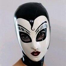 цена на sexy lingerie exotic unisex Black Latex drama hoods Fetish Hood Rubber Mask Full Face with Back Zipper Cosplay Mask