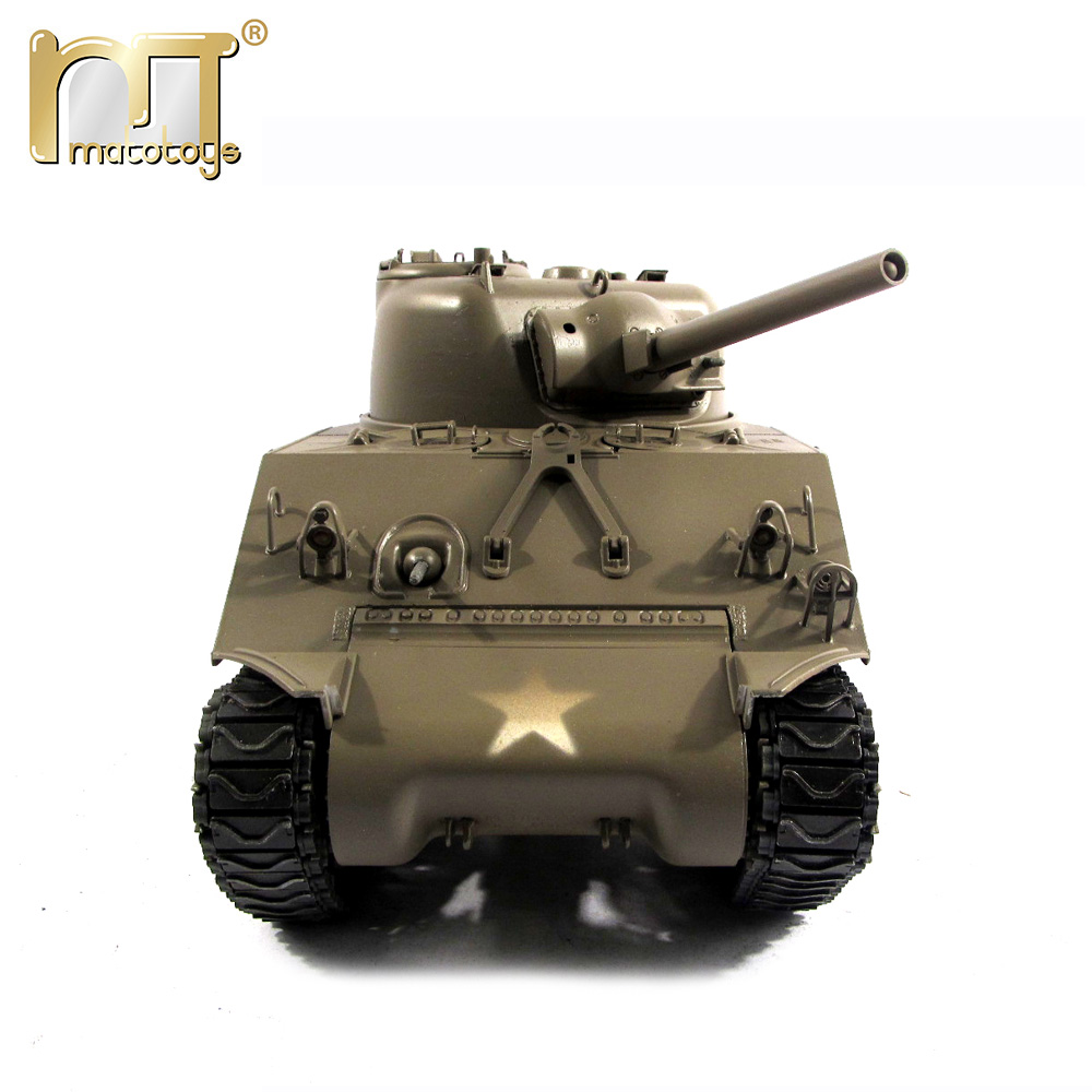 MATO World War II M4A3(75)W Sherman 100% Complete Metal Remote Control Recoil Barrel Infrared Battle Tanks 1/16 Scale mato sherman tracks 1 16 1 16 t74 metal tracks