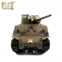 MATO World War II M4A3(75)W Sherman 100% Complete Metal Remote Control Recoil Barrel Infrared Battle Tanks 1/16 Scale