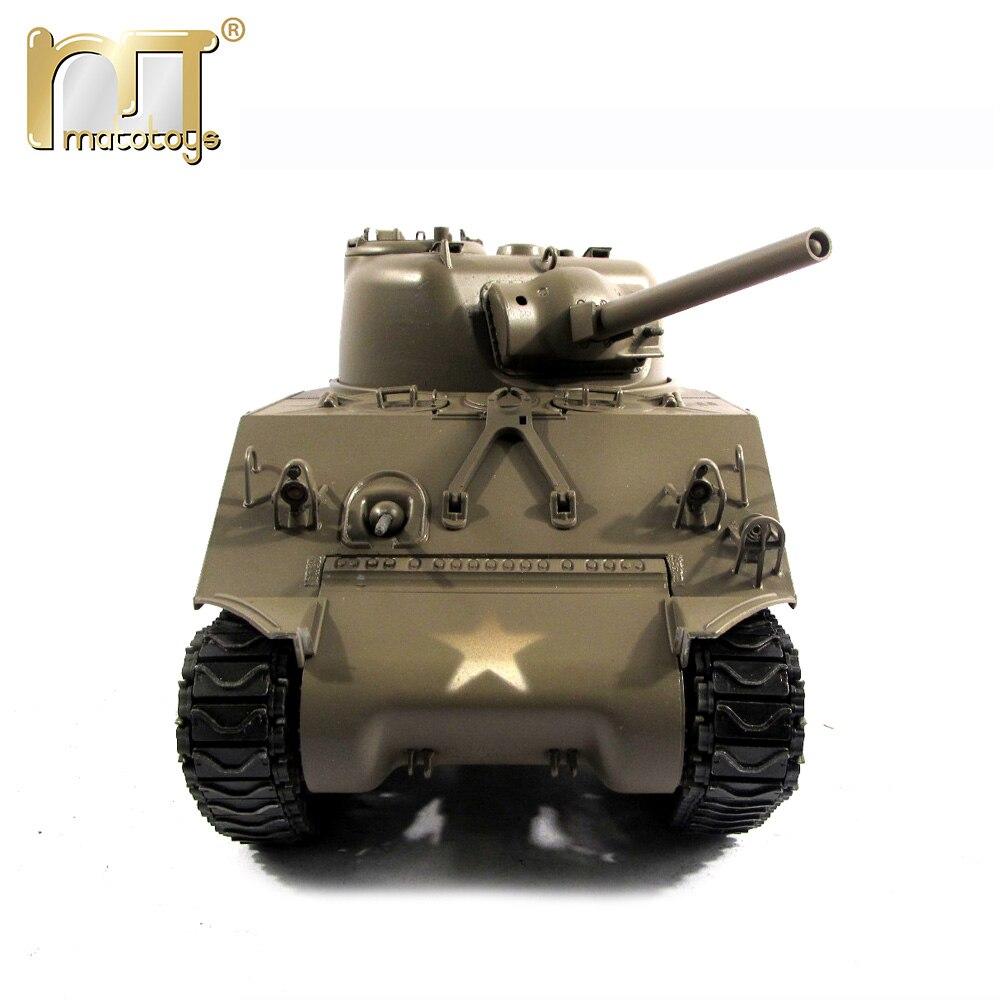 MATO seconde guerre mondiale M4A3 (75) W Sherman 100% télécommande complète en métal canon de recul réservoirs de bataille infrarouges échelle 1/16