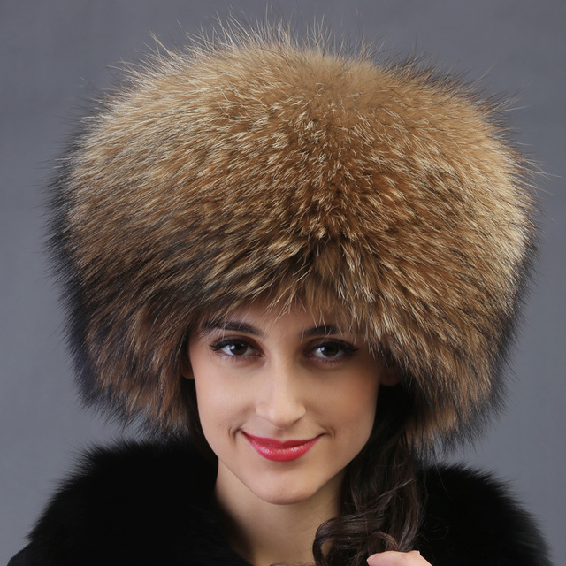 2016 autumn winter Super warm below zero show women genuine rex racoon fur Russian style cap lady luxur fur hat hair fox fur