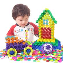 Baby Toys Desktop Toys Medium Basic Snowflake Building Blocks Kindergarten Spell Inserted Bricks Kids Early Education Diy Toy цена