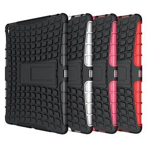 Image 5 - À prova de choque caso protetor armadura capa para i pad mini 1/2/3/ 4 ar 2 pro 9.7 novo um