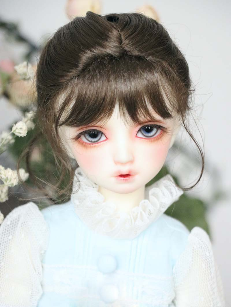 цены New Style 1/3 1/4 16 BJD Wig Super Doll Cute Wig Mohair Single Braid For BJD Doll Hair Free Shipping