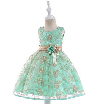 New Design Rose High Quality Pretty Flower Girl Dresses Children Kids Wedding Party Princess Dress цена 2017