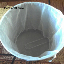 Beer Brewing Bucket Type Bier Brouwen Home Brew Filter Bag With String For All Grain Brew Bag(China)